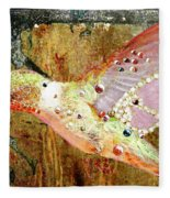 Bejeweled Hummingbird Fleece Blanket