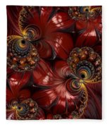 Bejewelled Crimson Fleece Blanket
