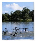 Belconnen Lake Fleece Blanket