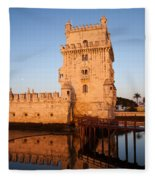 Belem Tower At Sunrise In Lisbon Fleece Blanket