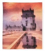 Belem Tower Fleece Blanket