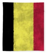 Belgium Flag Fleece Blanket