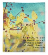 Believe In Dreams Fleece Blanket