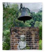 Bell Brick And Statue Fleece Blanket