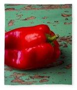 Bell Pepper On Green Board Fleece Blanket