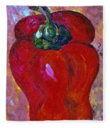 Red Bell Pepper Takes Center Stage Fleece Blanket