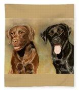 Bella And Sophie Fleece Blanket