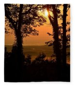 Bella Vista Sunset 2 Fleece Blanket