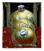 Bellagio Christmas Ornaments Fleece Blanket