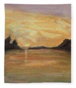 Belle River II Fleece Blanket