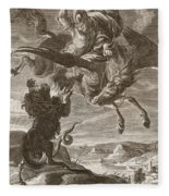 Bellerophon Fights The Chimaera, 1731 Fleece Blanket