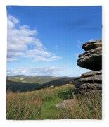 Bellever Tor On Dartmoor Fleece Blanket