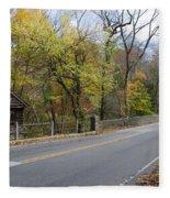 Bells Mill Road In Autumn Fleece Blanket