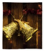 Bells Of Christmas Joy Fleece Blanket