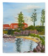 Belmore Basin From The North Sea Wall Fleece Blanket