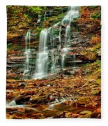 Below Ganoga Falls Fleece Blanket