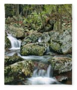 Below Mina Sauk Falls 1 Fleece Blanket