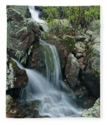 Below Mina Sauk Falls 4 On Taum Sauk Mountain Fleece Blanket