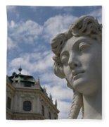Belvedere Gardens Statue Fleece Blanket