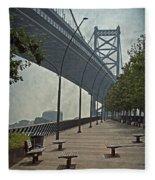 Ben Franklin Bridge And Pier Fleece Blanket