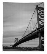 Ben Franklin Bridge Fleece Blanket
