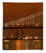 Ben Franklin Bridge Giant Panorama Fleece Blanket