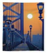Ben Franklin Bridge Walkway Fleece Blanket