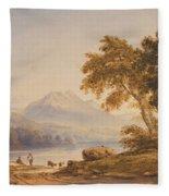Ben Vorlich And Loch Lomond Fleece Blanket