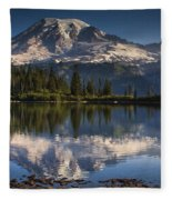Bench Lake Sunrise Fleece Blanket