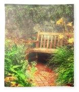 Bench - Privacy  Fleece Blanket