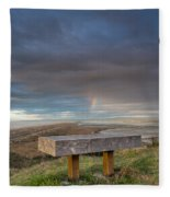 Bench With A View Fleece Blanket