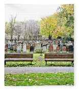 Benches By The Cemetery Fleece Blanket