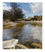 Bend In The Breamish River Fleece Blanket