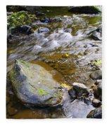 Bending Between The Rocks Fleece Blanket
