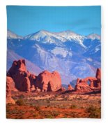 Beneath Blue Skies Fleece Blanket