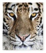 Bengal Tiger Eyes Fleece Blanket