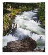 Benham Falls - Oregon Fleece Blanket