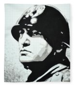 Benito Mussolini Fleece Blanket