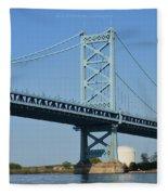 Benjamin Franklin Bridge Fleece Blanket