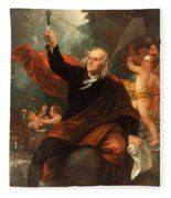 Benjamin Franklin Drawing Electricity From The Sky Fleece Blanket