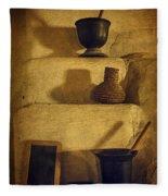 Bent's Old Fort Kitchen Fireplace Fleece Blanket