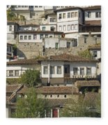 Berat Old Town In Albania Fleece Blanket