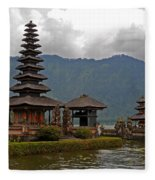Beratan Island Temple Fleece Blanket