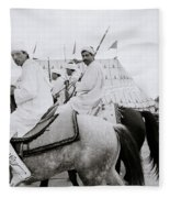 Berber Horsemen Fleece Blanket