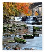 Berea Falls Ohio Fleece Blanket