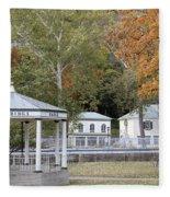 Berkeley Springs Bandstand In West Virginia Fleece Blanket