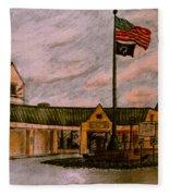 Berks County Jail Main Entrance Fleece Blanket
