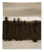 Berkshires Winter 1 - Massachusetts Fleece Blanket