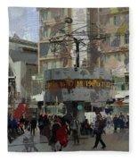 Berlin Alexanderplatz Fleece Blanket