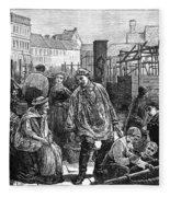 Berlin Fish Market, 1874 Fleece Blanket